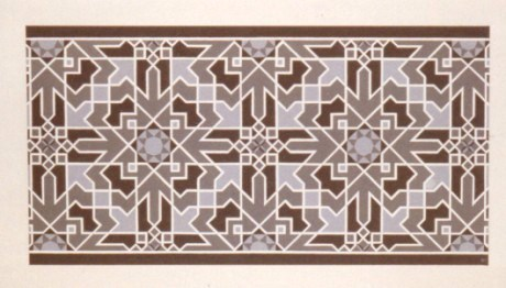 264 - Walltile (in black and white)  Mosque EI Burdanji [50x30]